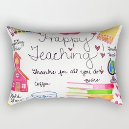 Happy Teaching Rectangular Pillow