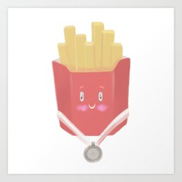 cute french fries Art Print