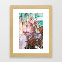 Kali Uchis Collage Framed Art Print