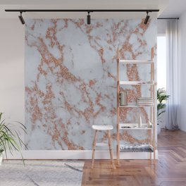 Intense rose gold marble Wall Mural