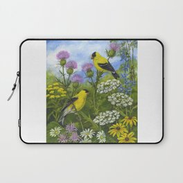 Goldfinches and Thistle Laptop Sleeve