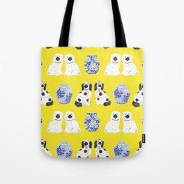 Staffordshire Dogs + Ginger Jars No. 6 Tote Bag