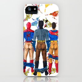Super Hero BUTTs | It's a bird, it's a plane, it's... a booty iPhone Case