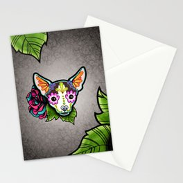 Chihuahua in Moo - Day of the Dead Sugar Skull Dog Stationery Cards
