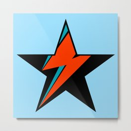 Bowie BlackStarDust (Blue) Metal Print