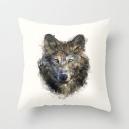 Wolf // Secure Throw Pillow