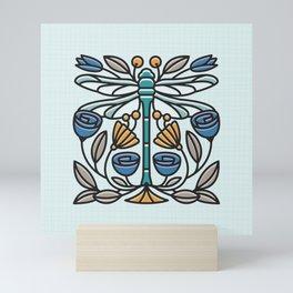Dragonfly tile Mini Art Print