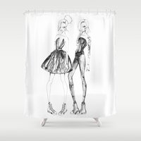 converse Shower Curtains featuring Double Converse by Sarah Lewis Designs