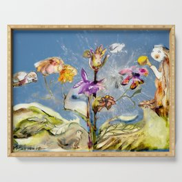 Dandelion Seed Fairy Serving Tray