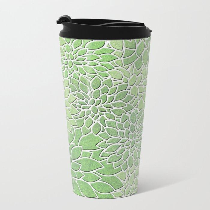 Floral Abstract 30 Metal Travel Mug