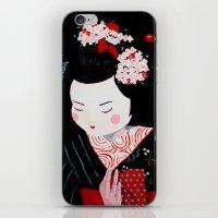 geisha iPhone & iPod Skins featuring Geisha by Maripili