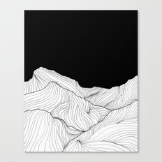 Lines in the mountains - b&w Canvas Print