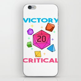 Tabletop Gaming DM Print Victory If Crit Dragons D20 Dice Print iPhone Skin