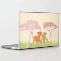 lions Laptop & iPad Skins featuring two lions..  by studiomarshallarts