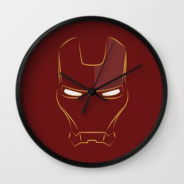 iron man face Wall Clock