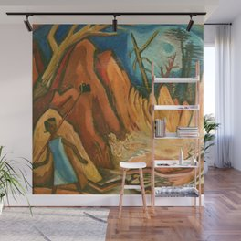 """African American Classical Masterpiece """"First African American Storyteller"""" by Hale Woodruff Wall Mural"""