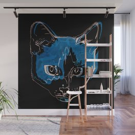 Kitty with a Soul Patch Wall Mural