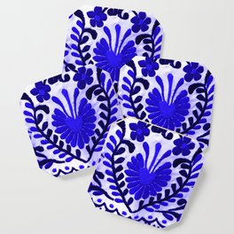 Beautiful Midnight Blue Mexican Flower Coaster