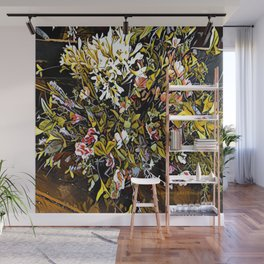 Yellow and Pink Bouquet of Flowes Wall Mural