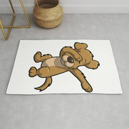 Funny Dabbing dog print - perfect gift for kids Rug