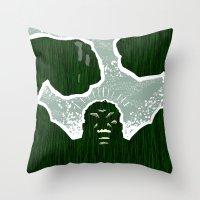 hulk Throw Pillows featuring Hulk by Duke Dastardly