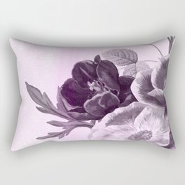 poenies in pink and purple Rectangular Pillow