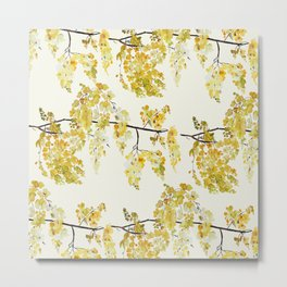 Manjal - Yellow Metal Print