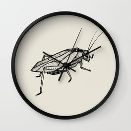 Katydid Wall Clock