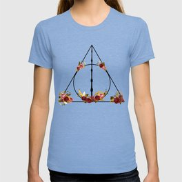Deathly Hallows in Red and Gold T-shirt