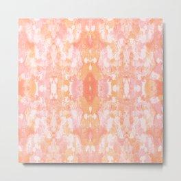 Sycamore kaleidoscope - Sherbert blush Metal Print