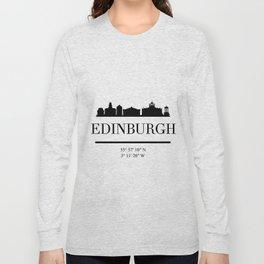 EDINBURGH SCOTLAND BLACK SILHOUETTE SKYLINE ART Long Sleeve T-shirt