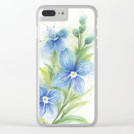 Veronica, Floral Watercolor Clear iPhone Case