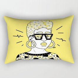 Feel The Beat in Yellow Rectangular Pillow