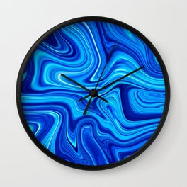 Ocean blue marble Wall Clock