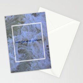 Never Give Up On Greatness Stationery Cards