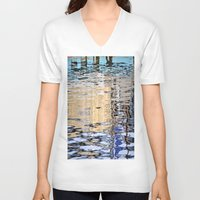 marine V-neck T-shirts featuring marine reflection by  Agostino Lo Coco