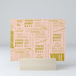 Youth Basketball Typography Mini Art Print