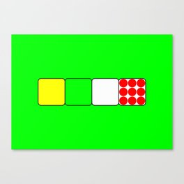 Tour de France Jerseys 2 Green Canvas Print