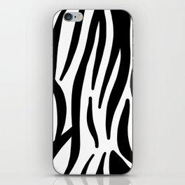 abstract modern safari animal black and white zebra print iPhone Skin