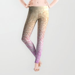 GOLD PINK GLITTER by Monika Strigel Leggings