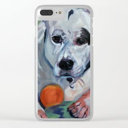 Staffordshire Terrier Dog Portrait Clear iPhone Case