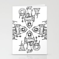 fight Stationery Cards featuring Fight by Benson Koo