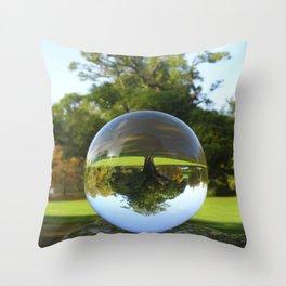 Old Park Tree, crystal ball / Glass Ball Photography Throw Pillow