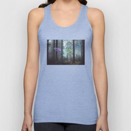 Whale Music in the Forest Unisex Tank Top