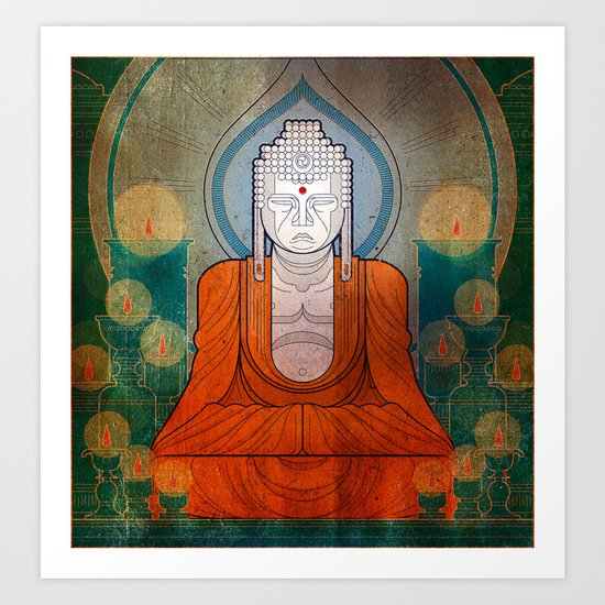 My Buddy Buddha Art Print