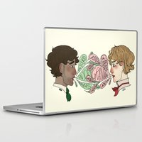 enjolras Laptop & iPad Skins featuring Name on my tongue by Antisepticbandaid