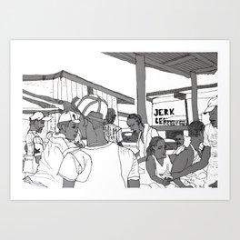 Jerk Center Boston Jamaica Art Print