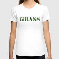 grass T-shirts featuring grass by Кaterina Кalinich