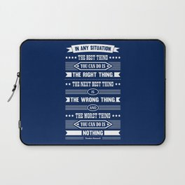 Lab No. 4 In Any Situation Theodore Roosevelt Motivational Quotes Laptop Sleeve