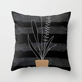Scandi Plant 2 Throw Pillow